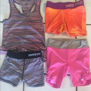Nike Bottoms - Kids lot of cheer sofee Nike pros